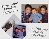 Custom Keychain - Mothers Day Gift - Personalized Photo Key Chain  - Mommy's Sweethearts - Gift Idea for Mom, Dad, Teen - Custom Picture