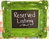 Reserved Listing for Jamekia