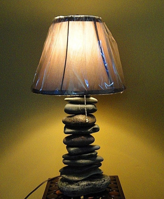 Custom Made The Cairn Marker Stacked Stone Lamp