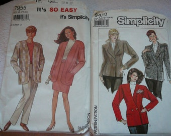 Jacket Patterns--Big Shouldered 9 to 5 Working Girl Style
