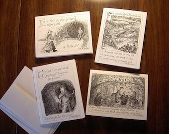 The Hobbit assorted notecards, Set 1