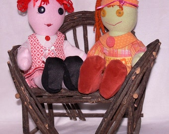 Polar Fleece Rag Cloth Doll, BLUEBERRY HILL KIDS  made to order custom Your choice of colors