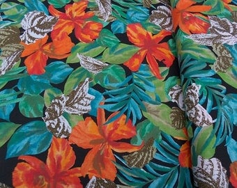 Jungle Floral fabric - by the yard