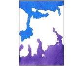 Purple & Blue Tori Amos Inspired Abstract Art Original ACEO