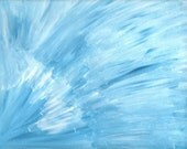 Blue & White Abstract Art 9x12 Original Acrylic Painting