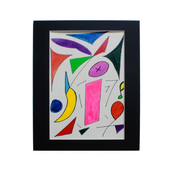Red Yellow Orange Green Pink Blue Purple Multicolored Original 9x12 Watercolor Painting
