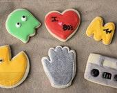 80s Theme  Sugar Cookies