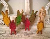 Vintage Bill Ding Wooden Stacking Men - Children's Toy