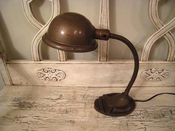 Vintage Industrial Desk Lamp - Goose Neck
