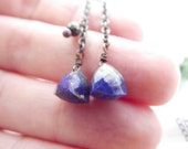 cleo earrings - lapis lazuli, pyrite, brass