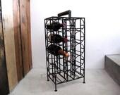 Vintage Mid Century Wine Rack -  Vintage Industrial Kitchen, Metal, Iron