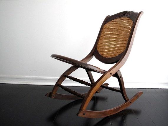 Vintage Wood Rocking Chair Vintage Rocking by SnapshotVintage