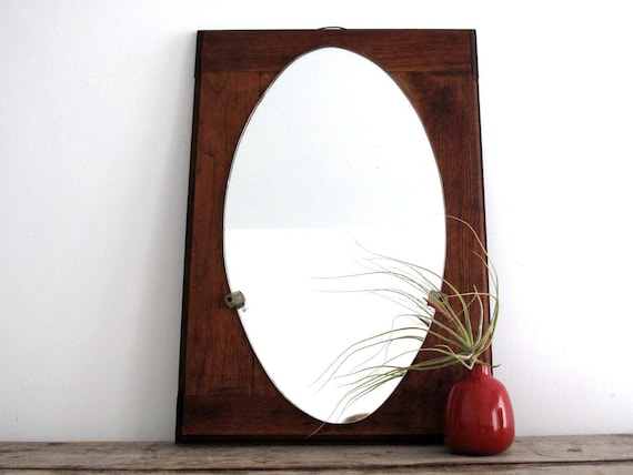 Mid Century Wall Mirror - Wood Framed Mirror, Decorative, Home