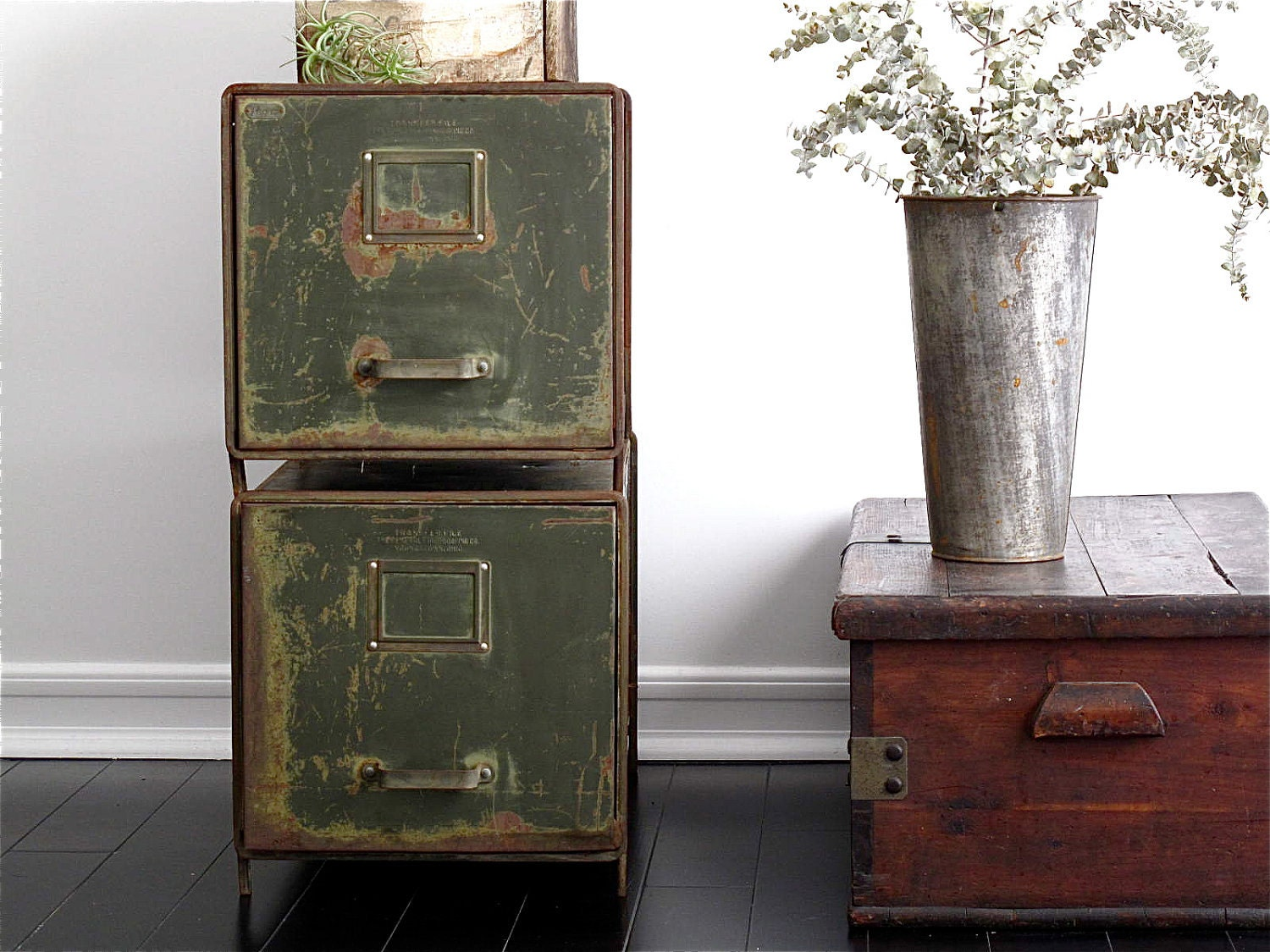 Metal File Cabinets Industrial Office By Snapshotvintage
