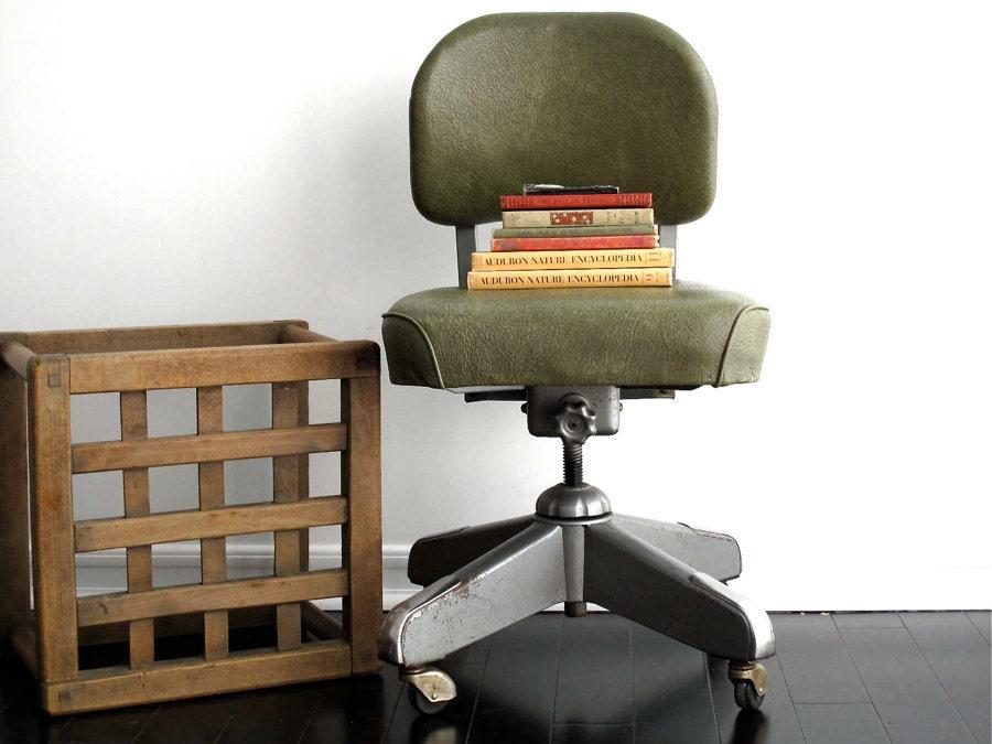 Vintage Steelcase Chair Vintage Industrial by SnapshotVintage