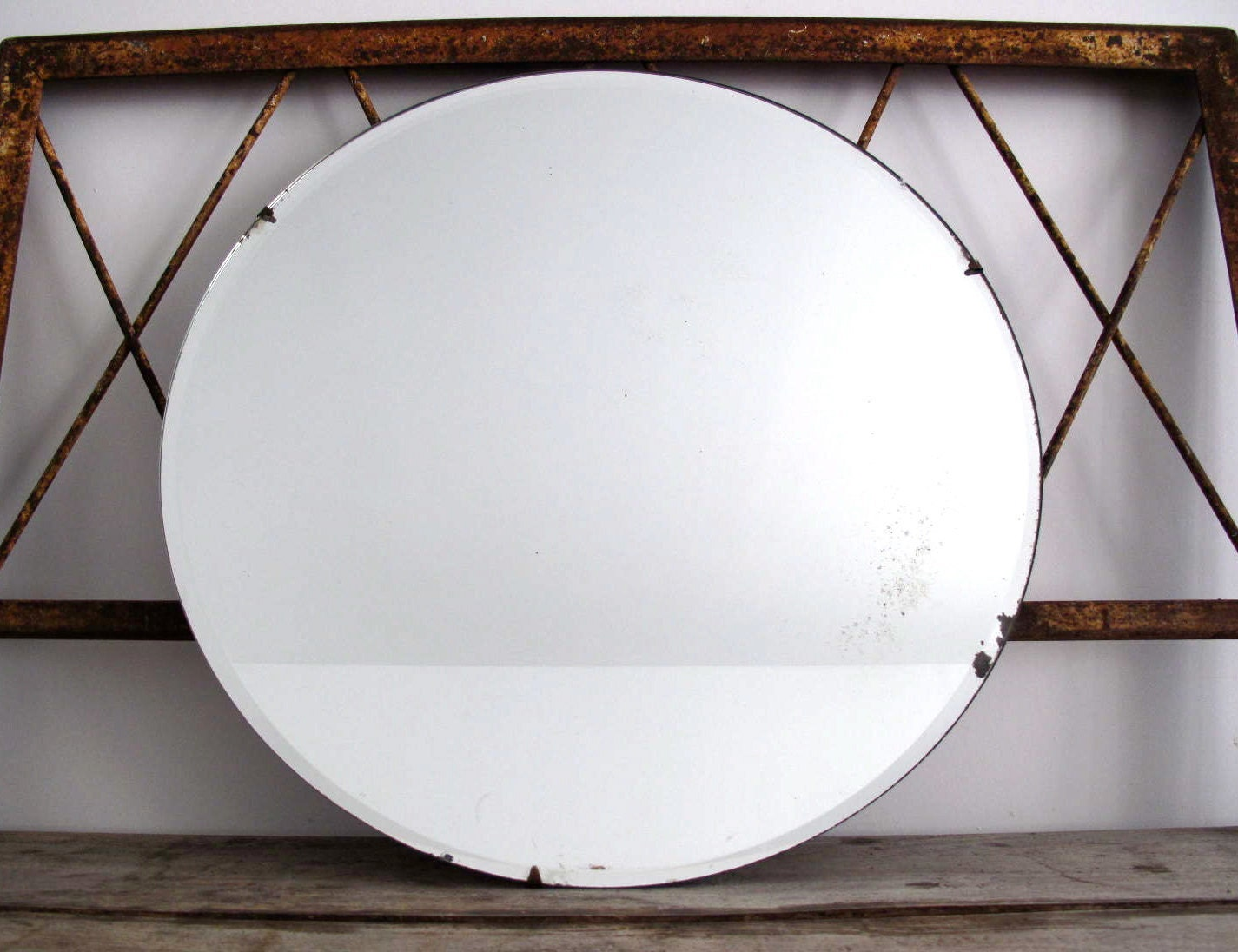 Vintage Round Mirror Wall Mirror Mirrors By SnapshotVintage