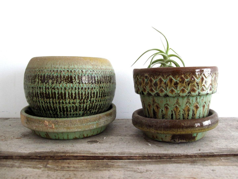 Vintage Ceramic Planters Mid Century Planter By