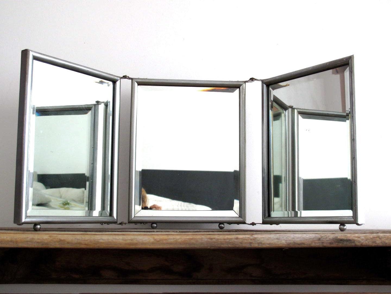 Triptych mirror vintage mirror trifold mirror by