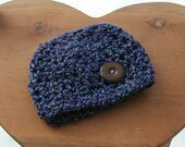 Purple/Blue Mix Hat for Boy or Girl (fits 0-24 months)