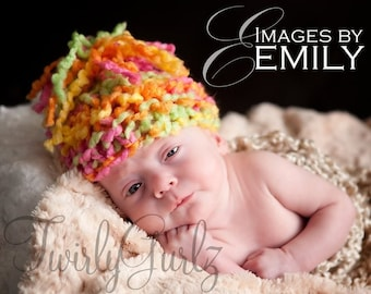 Bulky Knit Hat for Boy or Girl (fits 0-24 months)