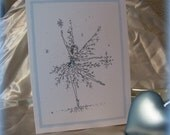Snow Fairy Notecards,  4 blank inside with white envelopes