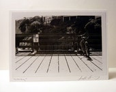 Bicycle Greeting Card - Photo Black And White