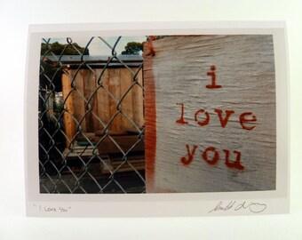 I Love You Photo Greeting Card - San Francisco