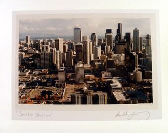 Seattle Photo Greeting Card - Skyline Scene