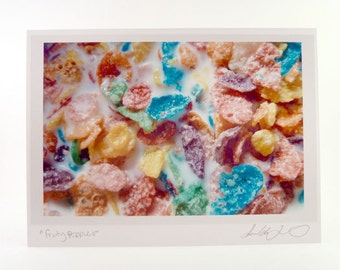 Food Photo Greeting Card - Fruity Pebbles Cereal Breakfast