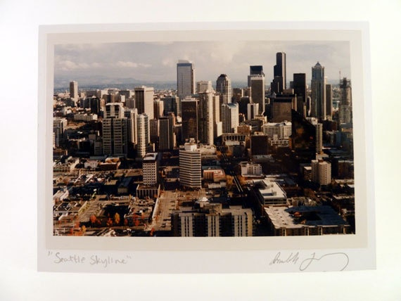 Seattle Photo Greeting Card - Skyline Scene