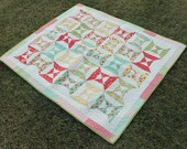 Double Hourglass Strawberry Fields Baby Quilt