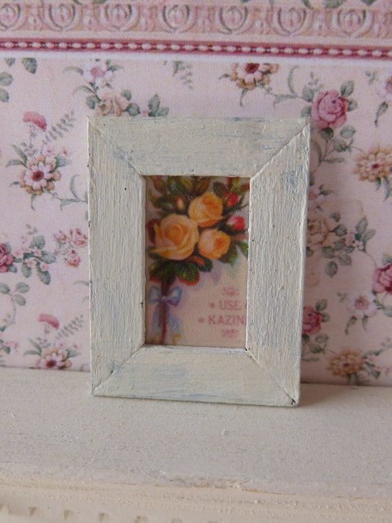 Dollhouse Miniature Picture, Roses Wall Art