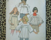 Vintage Simplicity Tunic Pattern from 1972