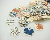 Lucky Clover Bessy Paper Confetti, OOAK, Repurposed Upcycled Recycled Comic - FREE SHIPPING - Easter