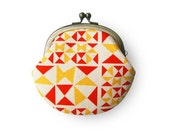 Red and Yellow Ribbon Canvas Coin Purse