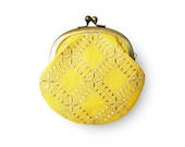 Lemon Sherbet Yellow Coin Purse - humoresque