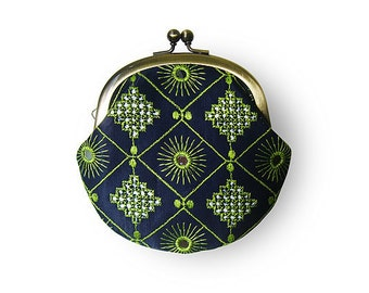 Oriental Mirror Work Deep Blue Coin Purse