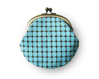 Metal frame coin purse // Square Pattern