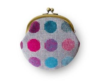 Metal frame coin purse // Mix Color Dots