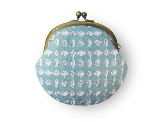 Embroidered Blue Sparkle Sky Coin Purse