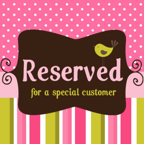 Reserved Listing for Dalicia