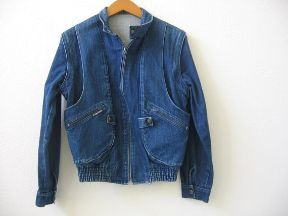 vintage jacket coat denim removable sleeves medium Sport Fila Taglia Roma Milano men women fashion