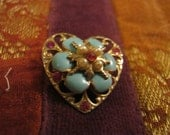 Heart Shaped Brooch