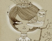 Original Art - Fine Art Illustration - Emily Lost Her Brain  - By Willow Eyes