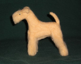 Lakeland Terrier needle felted dog example custom made to order