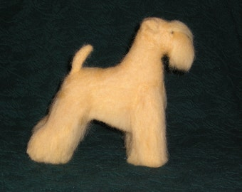 Soft Coated Wheaten Terrier needle felted dog example custom made to order