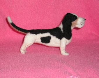 Basset Hound needle felted dog example custom made to order