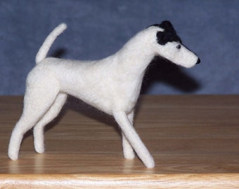 Smooth Fox Terrier needle felted dog example custom made to order