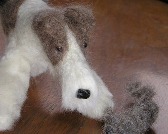 Wire Fox Terrier with toy rat example custom made to order