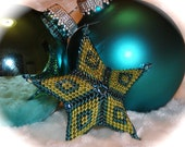 3-D Peyote Star Ornament Tutorial